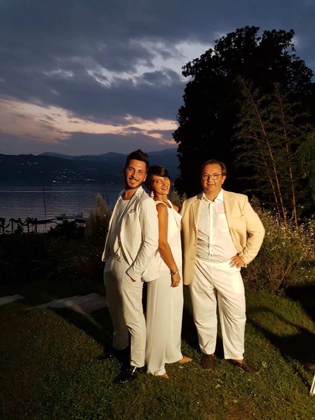 la white dinner con Angelo Garini