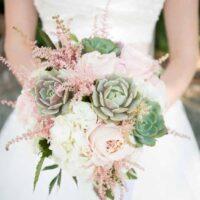 bouquet sposa succulente