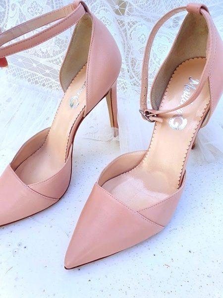 scarpa sposa cipria