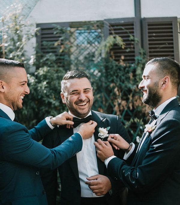 fiore all'occhiello sposo