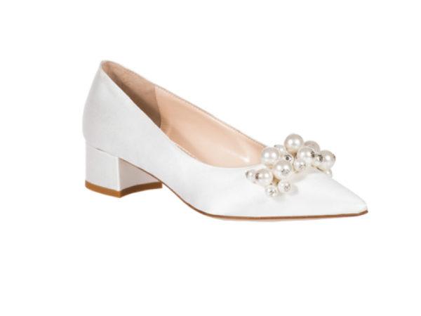 scarpa sposa tacco largo