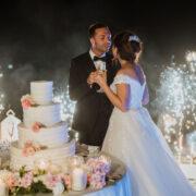 taglio torta romantico