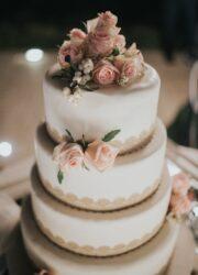 torta matrimonio romantico