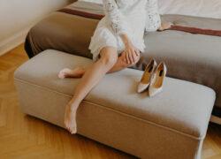 piedi e scarpe matrimonio